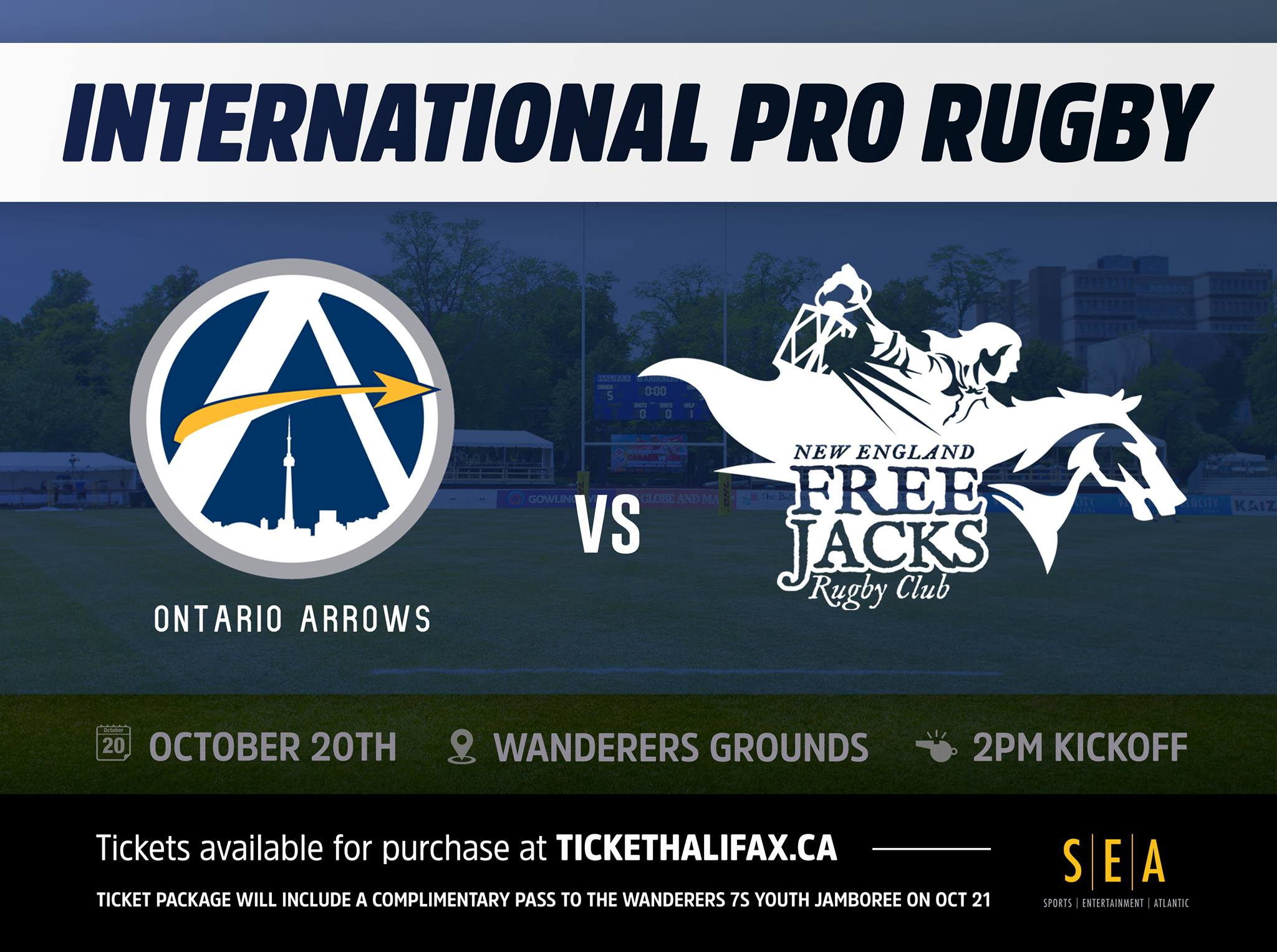 RELEASE: SEA to Host Professional Rugby at Wanderers Grounds (Oct. 20, 2018)
